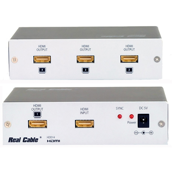 Distributeur HDMI N°3 - 2K - 4 sorties - 10.2 Gbits - REAL CABLE