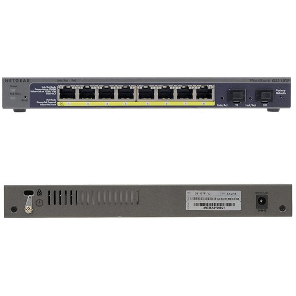 GS110TP NETGEAR - Switch 8 ports - PoE - Https ou HDBase T