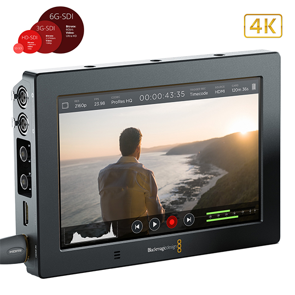 "VIDEO ASSIST  - BlackMagic - 4k - 7"" - entrée 6G"