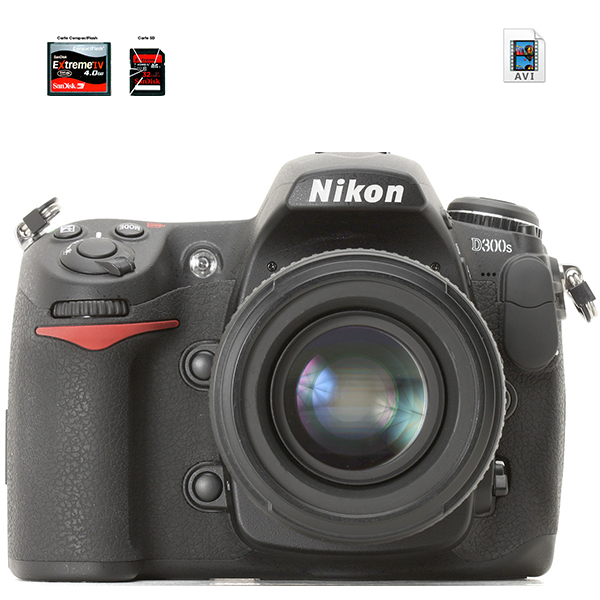 NIKON D300S - AVI - carte Compact Flash et SD