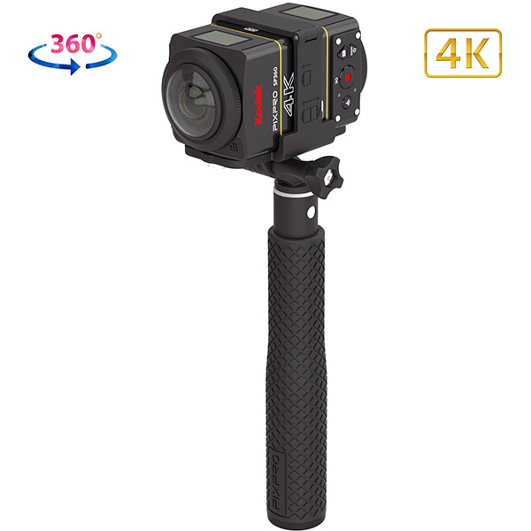 SP360 KODAK - 4K dual pro pack - action cam - 360° - kit complet