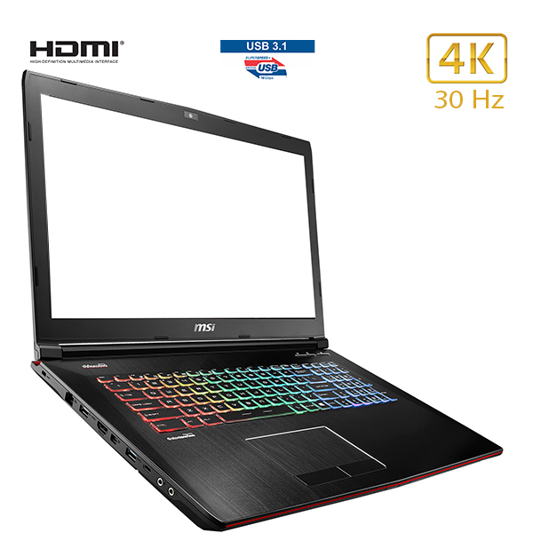 "GE72 7RE - MSI - 4K/30 Hz - portable 17"" - core i7 - USB 3.1"