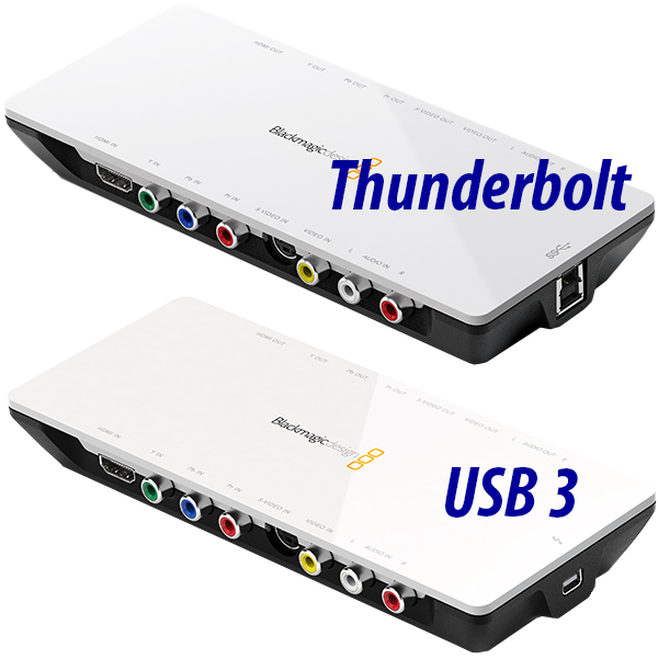 Intensity Shuttle Blackmagic - Aquisition vidéo - 2K/SD - USB 3 ou Thunderbolt - MPG4
