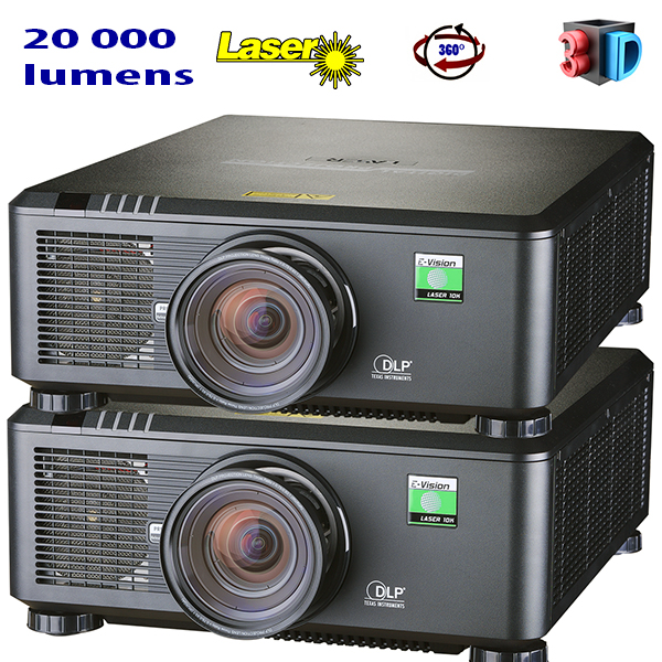 E-Vision Laser - DIGITAL PROJECTION - 20 000 lumens - Full HD - 60hz - objectif interchangeable