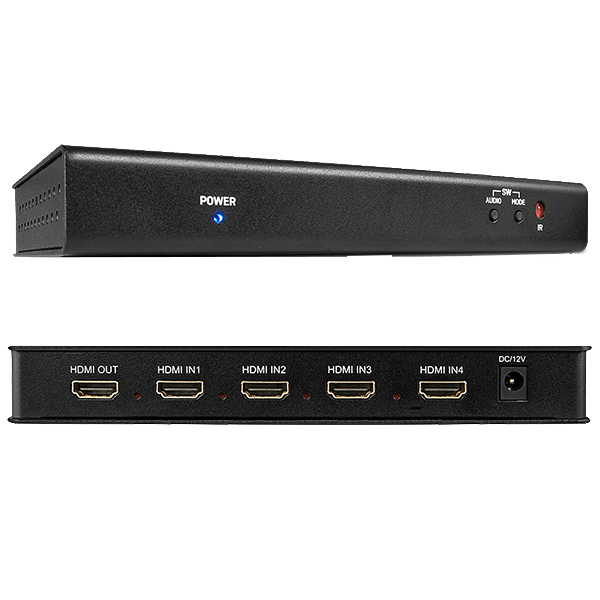 Switch HDMI Multi-View - 4 ports in - 1 port out