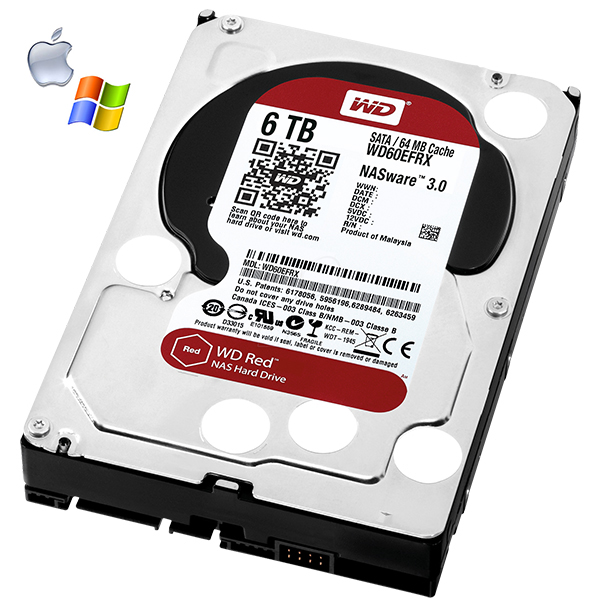WD60EFRX - WD RED - disque dur NAS - 6To - mémoire cache 64 Mo