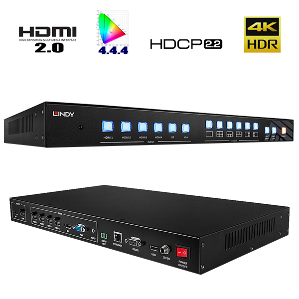 Switch HDMI Multi-View - 4 ports in - 1 port out - 38156