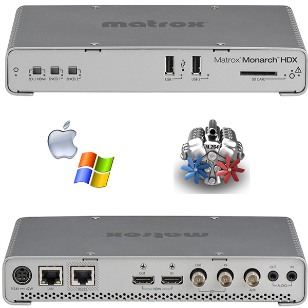 HDX Monarch Matrox - 2 encodeurs H264 - enregistreur - streaming