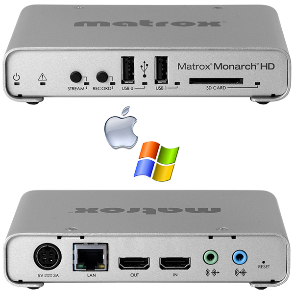 HD Matrox Monarch - mono encodeur H264 - enregistreur - streaming - (1p)