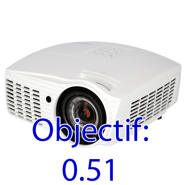 EH415ST OPTOMA - FULL HD - 3500 lumens - optique: ultra grand angle