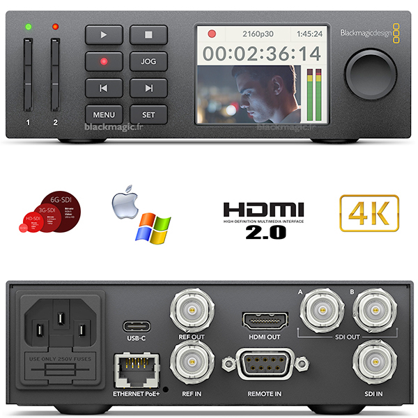 HyperDeck Studio Mini - Blackmagic - H264