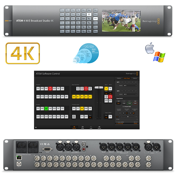 PRODUCTION ATEM 4M/E BROADCAST STUDIO 4K Blackmagic - Régie 20 SDI - 12G
