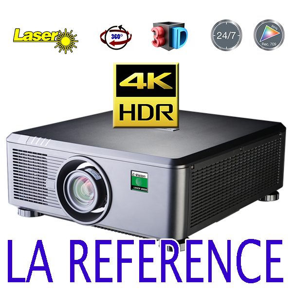 E-Vision Laser 4k - DIGITAL PROJECTION - 8500 lumens - 4.4.4  - HDMI 2 - objectif interchangeable