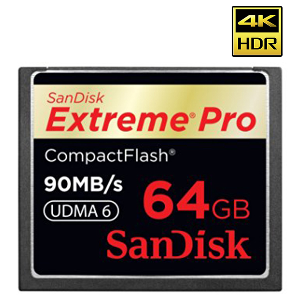 Carte mémoire Compact Flash  - 64 GB - 90 MBs - SANDISK - 7 p