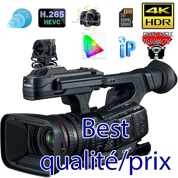 XF705 CANON - 4K - HDR - HEVC - MP5 - MP4 - meilleur caméra 2021 - INFRAROUGE