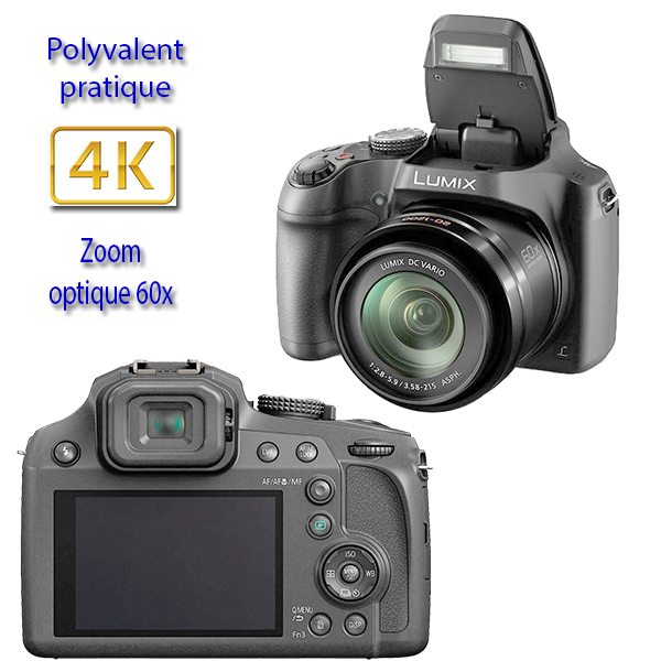 DC-FZ82 PANASONIC - 4K - INTELIGENCE ARTIFICIELLE - ULTRA POLYVALENT