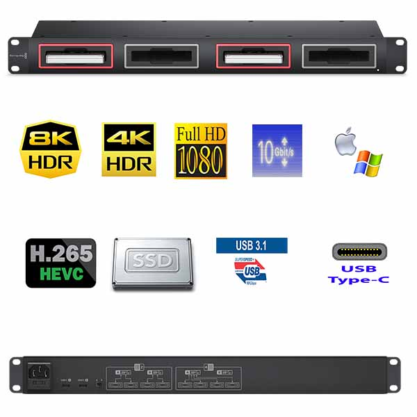 HYPERDECK MultiDock 10G BLACKMAGIC - USB-C