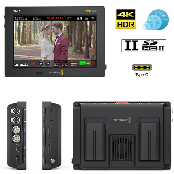 "VIDEO ASSIST BlackMagic - 4k HDR - 7"" - SDI 12G - HDMI"