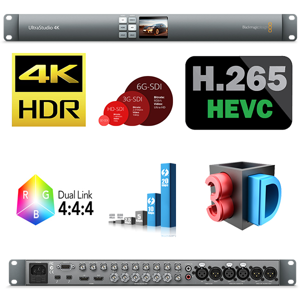 ULTRASTUDIO 4K  BlackMagic -  Aquisition vidéo - 4K/2K/SD - THUNDERBOLT 2