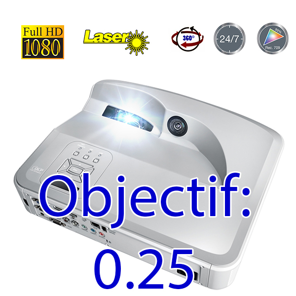 ZH400UST OPTOMA - LASER - FULL HD - 4000 lumens - optique: ultra grand angle